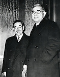 Undated - Saburo Kurusu and Kichisaburo Nomura in Washington, November, 1941.  (Photo by Kingendai Photo Library/AFLO)