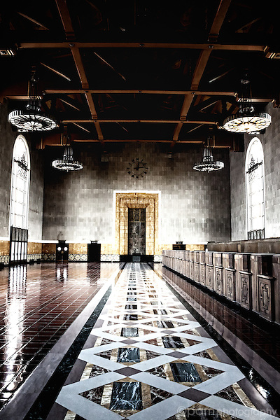 Old part of the train station in Los Angeles