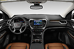 Stock photo of straight dashboard view of a 2020 GMC Acadia AT4 5 Door SUV