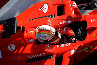 Race winner Sebastian Vettel (GER) Ferrari SF70-H celebrates in parc ferme at Formula One World Championship, Rd1, Australian Grand Prix, Race, Albert Park, Melbourne, Australia, Sunday 26 March 2017.<br /> Foto Sutton/Panoramic/Insidefoto