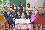 Knockaderry National School will host their first ever four mile fun run on May 24th to raise funds. The race is open to all levels of ability. .Front L-R Ella Walsh, Luke Ring, Eoin Walshe, Brian O'Leary, Maedhbh Daly and Eibhlín O'Leary. .Middle L-R Adam Walsh, Cian Ring, Alannah O'Leary, Evelyn and Ruth Daly and Jessica O'Leary. .Back L-R Fiona Walsh (chairperson of the parents association),  Aine Daly (principal) and Linda Ring (secetary of the parents association).