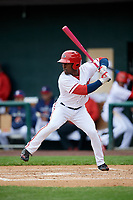 Harrisburg Senators right fielder Daniel Johnson (7) at bat during the first game of a doubleheader against the New Hampshire Fisher Cats on May 13, 2018 at FNB Field in Harrisburg, Pennsylvania.  New Hampshire defeated Harrisburg 6-1.  (Mike Janes/Four Seam Images)