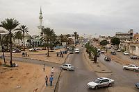 Tripoli, Libya - Suburban Street Scene.