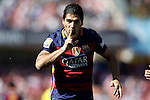 FC Barcelona's Luis Suarez celebrates goal during La Liga match. May 14,2016. (ALTERPHOTOS/Acero)