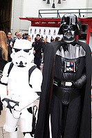 LOS ANGELES - MAY 24: Stormtrooper, Darth Vader at a ceremony to unveil a commemorative plaque in honor of Carrie Fisher at TCL Chinese Theatre IMAX on May 24, 2018 in Los Angeles, CA
