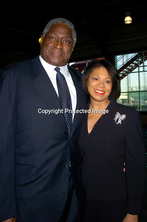 Willis Reed and wife Gale ..at the Arthur Ashe Institute for Urban Health Sportsball 2004 on April 29, 2004 at PIer Sixty at Chelsea PIers. ..People were told to wear Blcak tie and sneakers. ..Photo by Robin Platzer, Twin Images