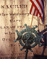 Historic military grave stone dated 1775, Brewster, Cape Cod, MA