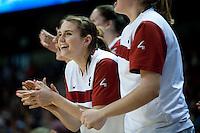 SPOKANE, WA - MARCH 28, 2011: Sara James, Stanford Women's Basketball vs Gonzaga, NCAA West Regional Finals at the Spokane Arena on March 28, 2011.