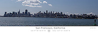San Francisco Skyline with Latitude and Longitude