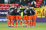 Sheffield United's team huddle during the League One match at the Valley Stadium, London. Picture date: November 26th, 2016. Pic David Klein/Sportimage