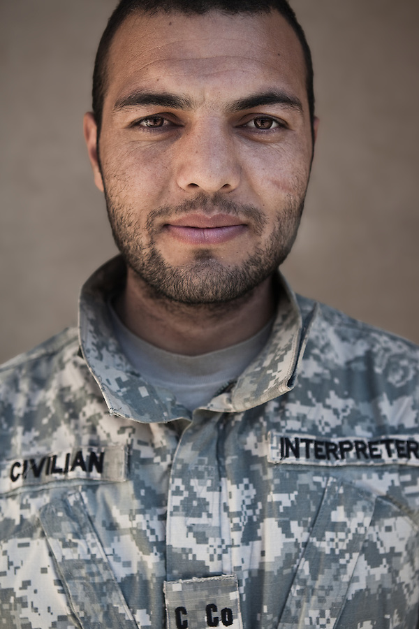 Roheb, Interpreter. Charlie Co. 1st Battalion 12th Infantry Regiment, 4th Infantry Division. Photographed at Combat Outpost JFM in Zhari District, Kandahar, Afghanistan.