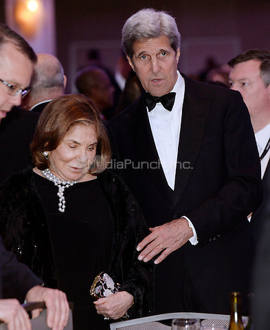 United States Secretary of State John Kerry with his wife Teresa Heinz Kerry attend the White House Correspondents' Association annual dinner on April 30, 2016 at the Washington Hilton hotel in Washington.This is President Obama's eighth and final White House Correspondents' Association dinner.<br /> Credit: Olivier Douliery / Pool via CNP/MediaPunch