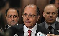 SAO PAULO, 06 DE AGOSTO DE 2012. MINISTRO GUIDO MANTEGA EM SP.   O governador Geraldo Alckmin  durante visita do   ministro da Fazenda, Guido Mantega, Ao Palacio dos bandeirantes em São Paulo. FOTO: ADRIANA SPACA - BRAZIL PHOTO PRESS