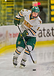1 February 2015: University of Vermont Catamount Defender Gina Repaci, a Junior from Toronto, Ontario, in first period action against the visiting Providence College Friars at Gutterson Fieldhouse in Burlington, Vermont. The Lady Cats defeated the Friars 7-3 in Hockey East play. Mandatory Credit: Ed Wolfstein Photo *** RAW (NEF) Image File Available ***