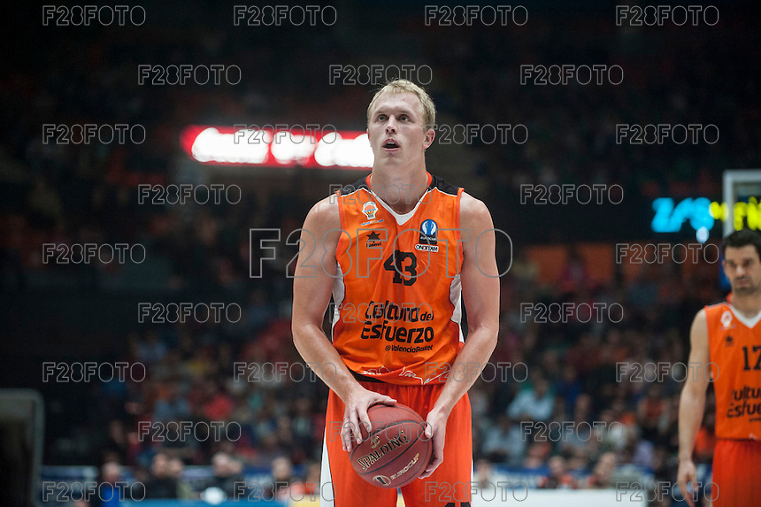 VALENCIA, SPAIN - NOVEMBER 18:  during EUROCUP match between Valencia Basket Club and CAI SLUC Nancy at Fonteta Stadium on November 18, 2015 in Valencia, Spain