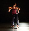 Zero Visibility corp. ... it's only a rehearsal <br /> at Sadler's Wells, London, Great Britain <br /> press photocall<br /> 11th November 2014 <br /> <br /> Dimitri Jourde <br /> Line Tormoen <br /> <br /> part of Sadler's Wells' Northern Light season celebrating Nordic dance. <br /> <br /> Photograph by Elliott Franks <br /> Image licensed to Elliott Franks Photography Services