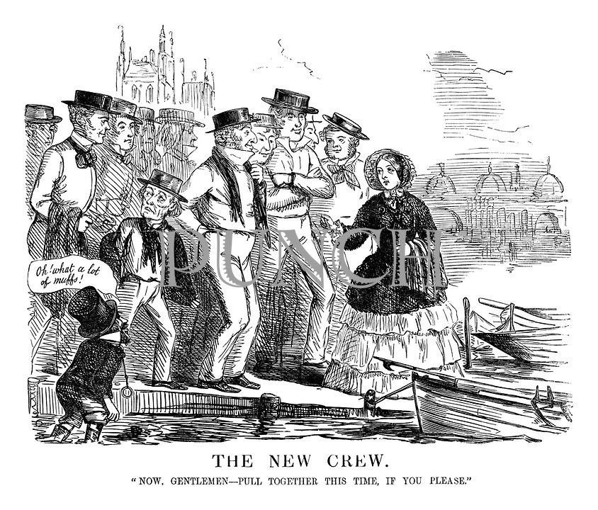 The New Crew. 'Now, gentlemen - pull together, if you please.'