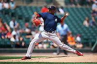 Pawtucket Red Sox starting pitcher Roenis Elias (29) delivers a pitch during a game against the Rochester Red Wings on June 29, 2016 at Frontier Field in Rochester, New York.  Pawtucket defeated Rochester 3-2.  (Mike Janes/Four Seam Images)