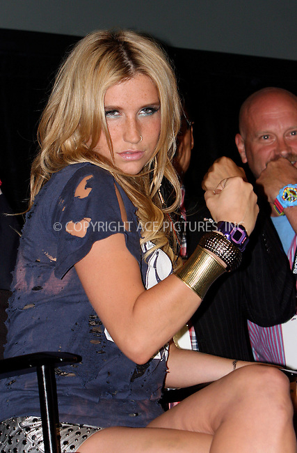 WWW.ACEPIXS.COM . . . . .  ....August 2 2010, New York City....Recording artist Ke$ha at the Casio 'Shock the World' event at The Manhattan Center on August 2, 2010 in New York City.....Please byline: NANCY RIVERA- ACEPIXS.COM.... *** ***..Ace Pictures, Inc:  ..Tel: 646 769 0430..e-mail: info@acepixs.com..web: http://www.acepixs.com