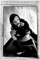 MOTORHEAD: Ian &quot;Lemmy&quot; Kilmister: Studio Portrait Session: New York City: 1992:<br /> Photo Credit: Eddie Malluk/Atlas Icons.com