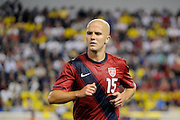 Michael Bradley (15) of the United States. The men's national team of the United States (USA) was defeated by Ecuador (ECU) 1-0 during an international friendly at Red Bull Arena in Harrison, NJ, on October 11, 2011.