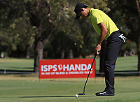 Min Woo Lee (AM)(AUS) in action on the 1st during Round 2 Matchplay of the ISPS Handa World Super 6 Perth at Lake Karrinyup Country Club on the Sunday 11th February 2018.<br /> Picture:  Thos Caffrey / www.golffile.ie<br /> <br /> All photo usage must carry mandatory copyright credit (&copy; Golffile | Thos Caffrey)