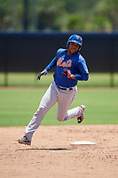 GCL Mets right fielder Edinson Valdez (3) runs the bases during a game against the GCL Nationals on August 4, 2018 at FITTEAM Ballpark of the Palm Beaches in West Palm Beach, Florida.  GCL Nationals defeated GCL Mets 7-4.  (Mike Janes/Four Seam Images)