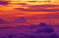 Breathtaking sunrise at the summit of Haleakala Crater on Maui.