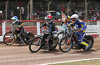 Heat 7: Zach Wajtknecht (red), Connor Coles (white), Nick Laurence (blue) and Matt Bates (yellow)<br /> <br /> Photographer Rob Newell/CameraSport<br /> <br /> National League Speedway - Lakeside Hammers v Eastbourne Eagles - Lee Richardson Memorial Trophy, First Leg - Friday 14th April 2017 - The Arena Essex Raceway - Thurrock, Essex<br /> &copy; CameraSport - 43 Linden Ave. Countesthorpe. Leicester. England. LE8 5PG - Tel: +44 (0) 116 277 4147 - admin@camerasport.com - www.camerasport.com