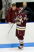 Bert Lenz (BC Trainer), Brian Gibbons (BC 17), John Hegarty (BC Director - Hockey Ops) - The Boston College Eagles and Providence Friars played to a 2-2 tie on Saturday, March 1, 2008 at Schneider Arena in Providence, Rhode Island. Brian Gibbons, freshman forward for the Boston College Eagles, is a free agent.