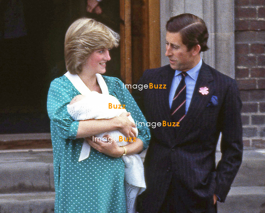London, UK, JUNE 23,1982:  BIRTH OF PRINCE WILLIAM<br /> Prince Charles and Princess Diana leave St Mary's Hospital with their baby son Prince William.<br /> Prince William (Wiiliam Arthur Louis Mountbatten-Windsor) the first child of the Prince and Princess of Wales was born on 21st June 1982