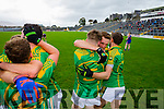 South Kerry team celebrate winning the County Senior Football Semi Final over Kenmare at Fitzgerald Stadium Killarney on Sunday.