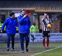 Lincoln City's assistant manager Nicky Cowley shouts instructions to his team from the technical area<br /> <br /> Photographer Andrew Vaughan/CameraSport<br /> <br /> The EFL Sky Bet League Two - Lincoln City v Cheltenham Town - Tuesday 13th February 2018 - Sincil Bank - Lincoln<br /> <br /> World Copyright &copy; 2018 CameraSport. All rights reserved. 43 Linden Ave. Countesthorpe. Leicester. England. LE8 5PG - Tel: +44 (0) 116 277 4147 - admin@camerasport.com - www.camerasport.com