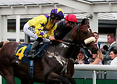 June 10th 2017, Chester Racecourse, Cheshire, England; Chester Races Horse racing; Tom Marquand on Sean O'Casey leads Modernism ridden by Stevie Donohoe into the final circuit of the Cabbies Handicap Stakes