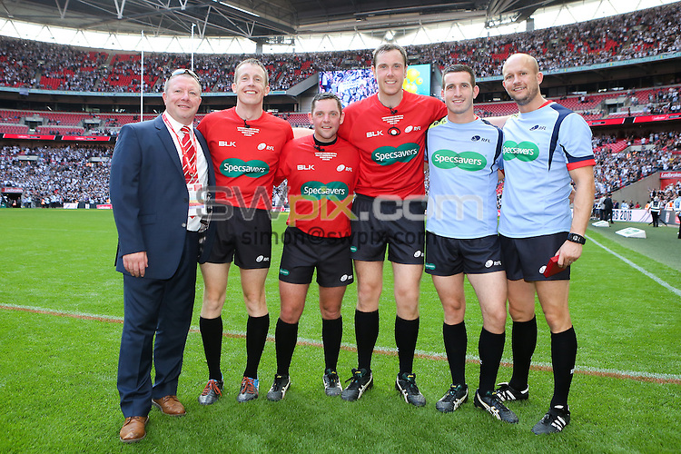 Picture by Alex Whitehead/SWpix.com - 27/08/2016 - Rugby League - Ladbrokes Challenge Cup Final - Hull FC v Warrington Wolves - Wembley Stadium, London, England - Referees, Officials.