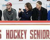 Dylan Skarupa, Nancy Trivigno, Bob Trivigno - The Boston College Eagles defeated the visiting Providence College Friars 7-1 on Friday, February 19, 2016, at Kelley Rink in Conte Forum in Boston, Massachusetts.
