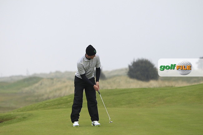 John-Ross Galbraith (Whitehead) on the 3rd green during Round 3 of the Flogas Irish Amateur Open Championship at Royal Dublin on Saturday 7th May 2016.<br /> Picture:  Thos Caffrey / www.golffile.ie