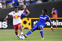 Danleigh Borman #11, Kei Kamara...Kansas City were defeated 3-0 by New York Red Bulls at Community America Ballpark, Kansas City, Kansas.