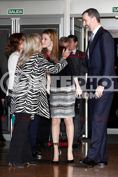 Prince Felipe of Spain, Princess Letizia of Spain and Mari Mar Blanco attend to the XI Tribute Concert of all the victims of terrorism at Auditorio Nacional in Madrid, Spain. March 03, 2013. (ALTERPHOTOS/Caro Marin) /nortePhoto