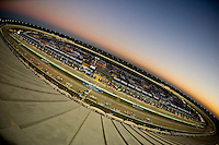 14-16 November 2008, Homestead, Florida USA.Homestead-Miami Speedway at dusk..©F.Peirce Williams 2008.F. Peirce Williams.photography