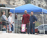 8-12-09 ..LL Cool J filming a new tv show called CSI  Los Angeles in Malibu, CA. .The two scenes that were shot were of  LL & Chris O'Donnell breaking into a trailer on the beach.LL was jogging down the beach during his lunch break. In the second scene  Chris and LL investigating a dead body on the beach.  During the breaks LL and. Chris played volleyball together. According the security guards on set LL was rushed by tones of girl fans so they had to hire extra security just for him....AbilityFilms@yahoo.com.805-427-3519.www.AbilityFilms.com.