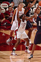 13 November 2005: Eziamaka Okafor during Stanford's 92-65 win over Love and Basketball at Maples Pavilion in Stanford, CA.