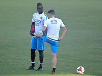 BARRANQUILLA - COLOMBIA -07-10-2017:Davisnson Sánchez durante  entrenamiento de la selección Colombia de fútbol en el estadio Metropolitano antes de su encuentro contra Perú para la clasificación sudamericana a la Copa Mundial de la FIFA Rusia 2018. / Davinson  Sanchez during training of Colombia's soccer team at the Metropolitan Stadium before their match against Peru for the South American qualification to the 2014 FIFA World Cup Russia Photo: VizzorImage / Alfonso Cervantes / Cont