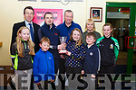At an awards ceremony in the Kingdom Greyhound Track on Friday night last, the Owner of the Greyhound of the year went to Donal G O&rsquo;Mahoney from Millstreet <br /> L-r, Declan Dowling , Ally O&rsquo;Connor, Ryan, Stephen, Caoimhe, Denise and Donal O&rsquo;Mahoney, Rebecca Sullivan and Ciara O&rsquo;Sullivan.