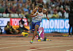 Nethaneel MITCHELL-BLAKE (GBR) in the mens 200m heats. IAAF world athletics championships. London Olympic stadium. Queen Elizabeth Olympic park. Stratford. London. UK. 07/08/2017. ~ MANDATORY CREDIT Garry Bowden/SIPPA - NO UNAUTHORISED USE - +44 7837 394578