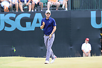 Bernd Wiesberger (AUT) misses his birdie putt on the 9th green during Saturday's Round 3 of the 117th U.S. Open Championship 2017 held at Erin Hills, Erin, Wisconsin, USA. 17th June 2017.<br /> Picture: Eoin Clarke | Golffile<br /> <br /> <br /> All photos usage must carry mandatory copyright credit (&copy; Golffile | Eoin Clarke)