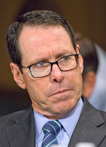 """Randall Stephenson, Chairman & Chief Executive Officer<br /> AT&T, appears before the United States Senate Committee on the Judiciary Subcommittee on Antitrust, Competition Policy & Consumer Rights to give testimony during the hearing """"Examining the Competitive Impact of the AT&T-Time Warner Transaction"""" on Capitol Hill in Washington, DC on Wednesday, December 7, 2016.<br /> Credit: Ron Sachs / CNP /MediaPunch"""