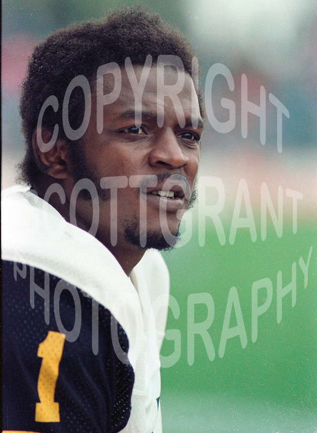 Keith Baker HamiltonTiger Cats 1983. Copyright photograph Scott Grant
