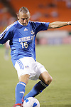 Sep 27 2007:  Eloy Colombano (16) of the Wizards.  The MLS Kansas City Wizards were defeated by the visiting Los Angeles Galaxy 1-0 at Arrowhead Stadium in Kansas City, Missouri, in a regular season league soccer match.