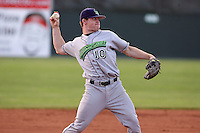 June 23rd 2008:  Third baseman Paul Gran of the Jamestown Jammers, Class-affiliate of the Florida Marlins, during a game at Dwyer Stadium in Batavia, NY.  Photo by:  Mike Janes/Four Seam Images